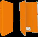 Oranje ingedrukt in zwart