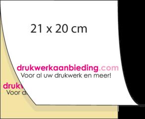 Sets 21 x 20 cm in 2-voud