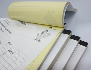 Bloks met scheurperforatie, boekband omplakt