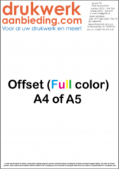90 grams A5 1-zijdig Full Colour 4/0