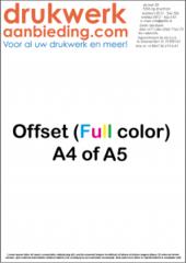 90 grams A4 Voorzijde Full Colour, Achterzijde zwart (voorwaarden) 4/1