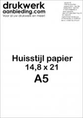 Huisstijl Papier Formaat A5 (14,8 x 21 cm)