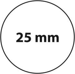 25 mm rond