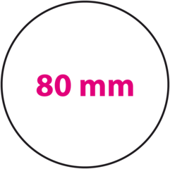 80 mm rond