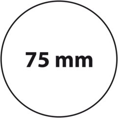 75 mm rond