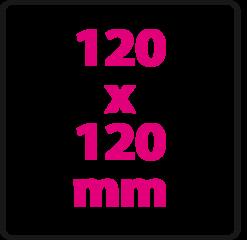 120 x 120 mm