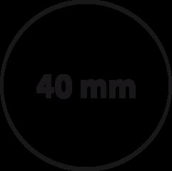 40 mm rond (max. 5 regels)