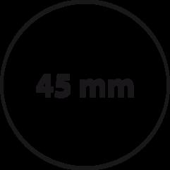 45 mm rond (max. 6 regels)