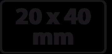 20 x 40 mm (max. 3 regels) NIEUWE PRIJZEN