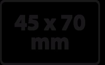 45 x 70 mm (max. 6 regels)