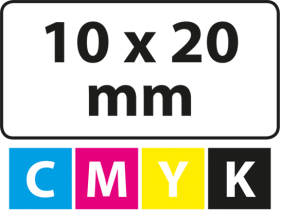 10 x 20 mm (afgeronde hoekjes)