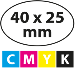 40 x 25 mm OVAAL