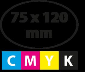 75 x 120 mm OVAAL
