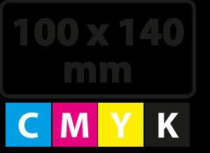 100 x 140 mm PP (afgeronde hoekjes)