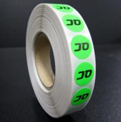 Stickers op Rol 1 kleur bedrukt (inktdruk)