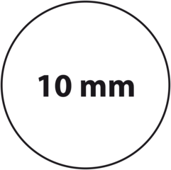 10 mm rond