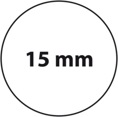 15 mm rond