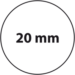 20 mm rond