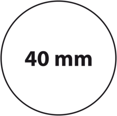 40 mm rond