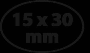 Ovaal 15 x 30 mm