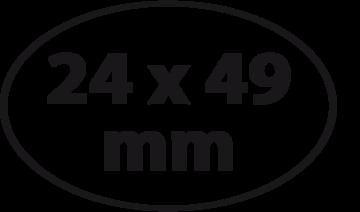 Ovaal 24 x 49 mm