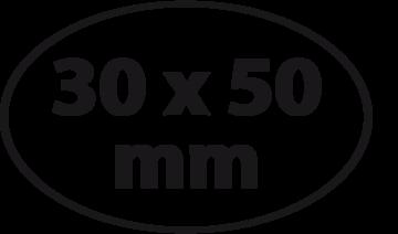 Ovaal 30 x 50 mm