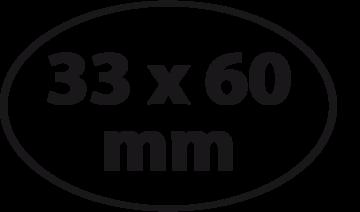 Ovaal 33 x 60 mm