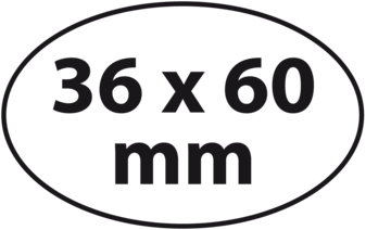 Ovaal 36 x 60 mm