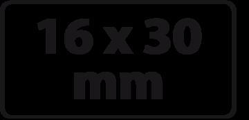 16 x 30 mm