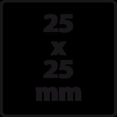 25 x 25 mm