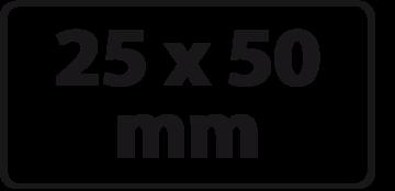 25 x 50 mm NIEUWE PRIJZEN