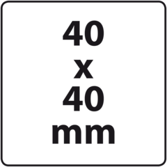 40 x 40 mm