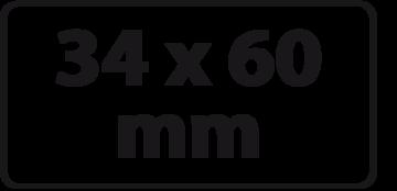 34 x 60 mm