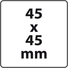 45 x 45 mm