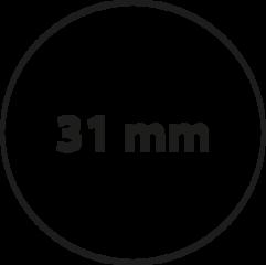 31 mm Rond Zeefdruk
