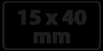 15 x 40 mm Zeefdruk