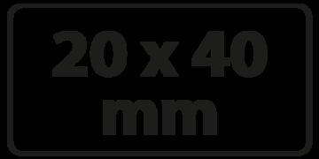 20 x 40 mm Zeefdruk