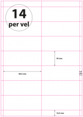 Geperforeerd Papier (A4) 98,5 x 38 mm 14 per vel