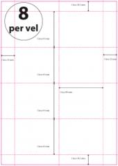 Geperforeerd Papier (A4) 80 x 65 mm 8 per vel