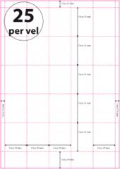 Geperforeerd Papier (A4) 39 x 51 mm 25 per vel WIT of GEEL