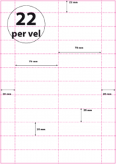 Geperforeerd Papier (A4) 79 x 25 mm 22 per vel