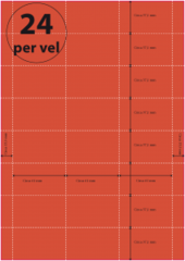 Geperforeerd Papier (A4) 61 x 37,1 mm 24 per vel ROOD