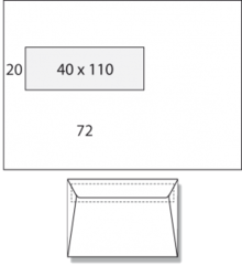 16,2 x 22,9 cm C5 Met Venster Links