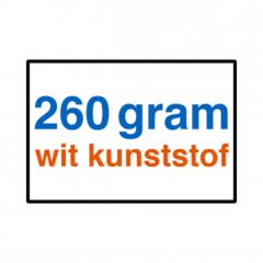 260 grams wit kunststof