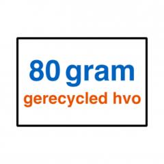 80 grams gerecycled HVO