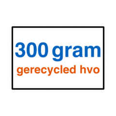 300 grams gerecycled HVO