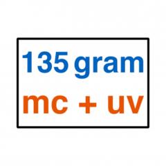 135 grams MC + UV Lak