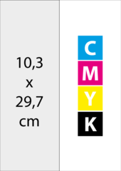 A4 Half (10,3x29,7 cm)