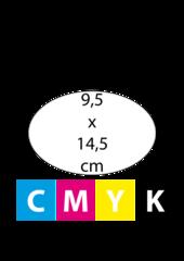 Ovaal 9,5 x 14,5 cm