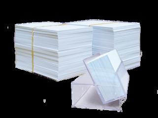Blanco (Witte) Kaartjes 5,5x8,5cm